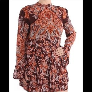 Free People fit and flare tunic dress top NWT